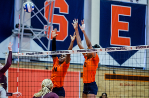 Syracuse lost to Louisville in four sets on Wednesday night.
