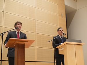 James Franco and Tyler Rossi debated the future of SA, sanctuary campuses and their VP nominees.