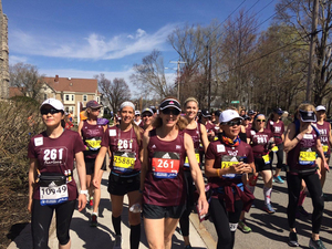 Kathrine Switzer ran the 2017 Boston Marathon on Monday, nearly 50 years to the day after she ran her first one.