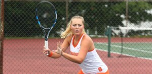 Knutson upset the No. 8 singles player in the country on Sunday.