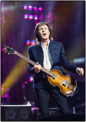 Paul McCartney played
