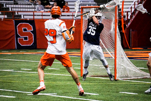 Stephen Rehfuss' goal lifted Syracuse to its ninth win in 11 one-goal games this season.
